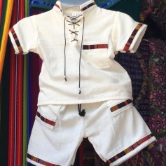 This traditional Guatemalan outfit is 100% cotton and fits the size of a 12-18 month old boy